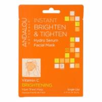 andalou Naturals Instant Brighten & Tighten Facial Mask - Vitamin C - Case of 6 - 0.6 fl oz - Case of 6 - 0.6 FZ each