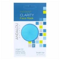 andalou Naturals Instant Clarity Face Mask - Argan Oil & Blue Clay - Case of 6 - 0.28 oz - Case of 6 - 0.28 OZ each