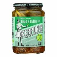 Suckerpunch Spicy Bread N' Better Gourmet Pickles  - Case of 6 - 24 FZ - Case of 6 - 24 FZ each