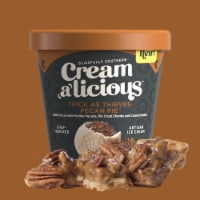 Creamalicious, Thick As Thieves Pecan Pie Artisan Ice Cream, Pint (8 Count) - 8 Count