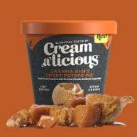 Creamalicious, Gi Gi's Sweet Potato Pie Artisan Ice Cream, Pint (8 Count)