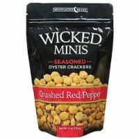 Wicked Minis Seasoned Oyster Crackers Crushed Red Pepper, 6oz (Pack of 6) - 6
