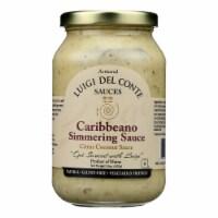Luigi Del Conte Sauces Caribbeano Simmering Coconut Citrus Candy Sauce-6Case- 15oz - Case of 6 - 15 OZ each