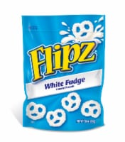 Flipz White Fudge Covered Pretzels, 7.5 Ounce Stand Up Pouch -- 8 per case.