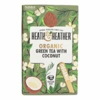 Heath & Heather - Tea Green W/coconut - Case of 6 - 20 CT - 20 CT
