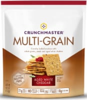 Crunchmaster White Cheddar Multi Grain Cracker, 4 Ounce -- 12 per case.