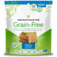 Crunchmaster Grain Free Crackers Lightly Salted Gluten Free, 3.4 oz (Pack of 12)