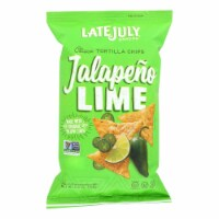 Late July Snacks Classic Tortilla Chips - Jalapeno Lime - Case of 12 - 5.5 oz. - Case of 12 - 5.5 OZ each