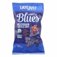 Late July Snacks Organic Multigrain Snack Chips - Summertime Blues - Case of 12 - 5.5 oz. - Case of 12 - 5.5 OZ each