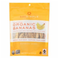 Sol Simple Organic Dried Banana - Case of 6 - 6 oz. - Case of 6 - 6 OZ each