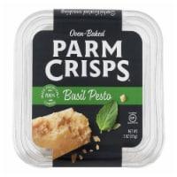 Parm Crisps Basil Pesto Gluten Free, 3oz (Pack of 12) - 12