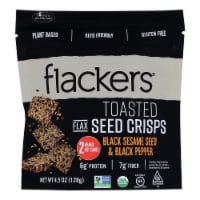 Doctor in the Kitchen Flackers Organic Black Sesame Seed & Black Pepper Toasted Seed Crisps - 6 ct / 4.5 oz