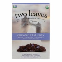 Two Leaves and A Bud Black Tea - Organic Earl Grey - Case of 6 - 15 Bags - Case of 6 - 15 BAG each