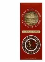 34 Degrees Cracked Pepper Crispbread, 4.5 OZ (Pack of 18)