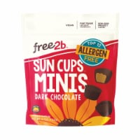 Free 2 B Sun Cups - Mini - Dark Chocolate - Case of 6 - 4.2 oz