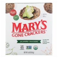 Mary's Gone Crackers Hot 'N Spicy Jalapeno Crackers  - Case of 6 - 5.5 OZ - Case of 6 - 5.5 OZ each