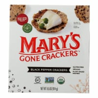 Mary's Gone Crackers Black Pepper Crackers  - Case of 6 - 6.5 OZ - Case of 6 - 6.5 OZ each