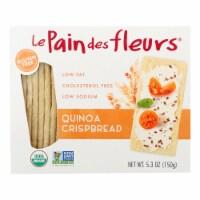 Le Pain Des Fleurs Organic Crisp Bread - Quinoa - Case of 6 - 4.41 oz.
