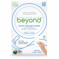 Beyond Concentrated Laundry Detergent Sheets. No Plastic. No Chlorine.  Free & Clear