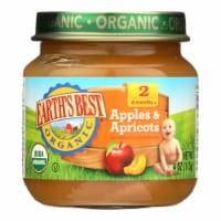 Earth's Best - Stage 2 Apple Apricot- Case of 10-4 OZ