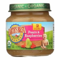 Earth's Best - Stage 2 Pears & Raspberries - Case of 10-4 OZ