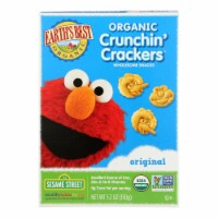 Earth's Best Organic Original Sesame Street Crunchin' Crackers - Case of 6 - 5.3 oz.