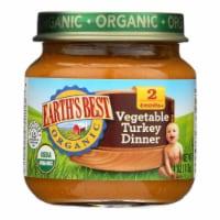 Earth's Best - Baby Food Og2 Vegetable Turkey Dinner - CS of 10-4 OZ - Case of 10 - 4 OZ each