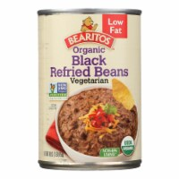 Bearitos Organic Refried Beans - Black Bean - Case of 12 - 16 oz.