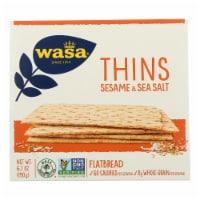 Wasa Sesame & Sea Salt Flatbread Thins  - Case of 10 - 6.7 OZ - Case of 10 - 6.7 OZ each