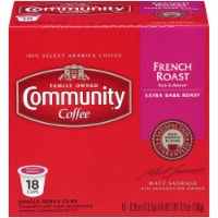 Community Coffee French Roast Single Serve Coffee Cups Case