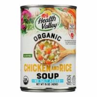 Health Valley Organic Soup - Chicken Rice No Salt Added - Case of 12 - 15 oz. - 15 OZ