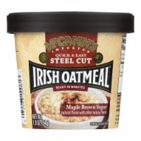 Mccann's Irish Oatmeal Instant Oatmeal Cup - Maple Brown Sugar - Case of 12 - 1.9 oz - 1.9 OZ