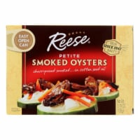 Reese Oysters - Smoked - Petite - Case of 10 - 3.7 oz - Case of 10 - 3.7 OZ each