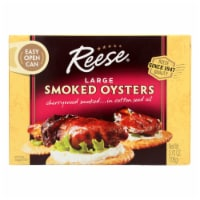Reese Oysters - Smoked - Large - 3.7 oz - Case of 10 - Case of 10 - 3.7 OZ each