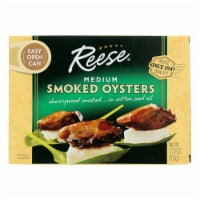 Reese Oysters - Smoked - Medium - 3.7 oz - Case of 10 - Case of 10 - 3.7 OZ each