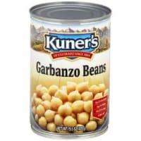 Kuner's Garbanzo Beans , 15oz (Pack of 12) - 12