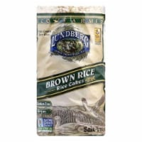 Lundberg Gluten Free Rice Cakes Eco-Farmed Brown Unsalted, 8.5 OZ (Pack of 6)