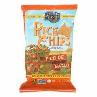 Lundberg Family Farms Rice Chips - Pico De Gallo - Case of 12 - 6 oz.