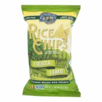 Lundberg Family Farms Rice Chips - Fiesta Lime - Case of 12 - 6 oz. - Case of 12 - 6 OZ each