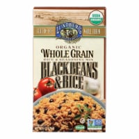 Lundberg Family Farms Organic Whole Grain - Black Beans and Rice - Case of 6 - 6 oz. - 6 OZ
