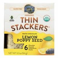 Lundberg Family Farms - Stackers White Chocolate Lemon - Case of 6 - 3.3 OZ - 3.3 OZ