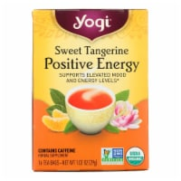 Yogi Positive Energy Herbal Tea Sweet Tangerine - 16 Tea Bags - Case of 6