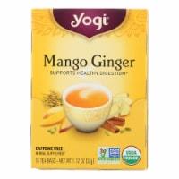 Yogi Tea - Organic - Mango Ginger - Case of 6 - 16 BAG - 16 BAG