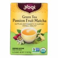 Yogi Tea - Organic - Green - Passionfruit Matcha - Case of 6 - 16 BAG - 16 BAG