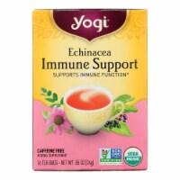 Yogi Echinacea Immune Support Caffeine Free Herbal Supplement Tea Bags (6 Pack) - 16 ct