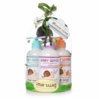 Little Twig- Baby Wash Essentials 3 8.5 fl.oz . w/washcloth Fragrance Free/Lavender/Tangerine