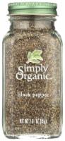 Simply Organic Black Pepper - 2.31 oz