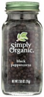 Simply Organic Black Peppercorns (6 Pack) - 2.65 oz