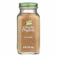 Simply Organic Coriander Seed - Organic - Ground - 2.29 oz - 2.29 OZ