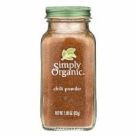 Simply Organic Chili Powder - Organic - 2.89 oz - 2.89 OZ